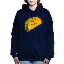 I Love Tacos Women's Hooded Sweatshirt