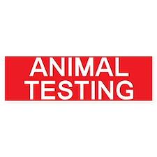 stop animal testing Bumper Bumper Sticker