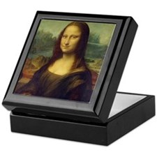 Mona Lisa by Leonardo Da Vinci Keepsake Box