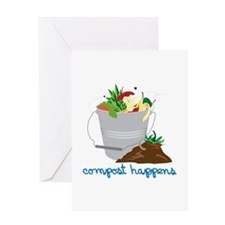 Compost Happens Greeting Cards