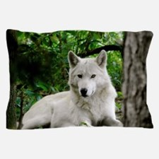 White Wolf Pillow Case
