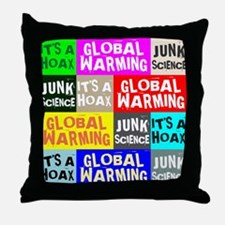 Global Warming Hoax Throw Pillow