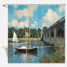 The Bridge At Argenteuil By Monet Shower Curtain