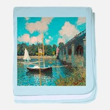 The Bridge at Argenteuil by Monet baby blanket
