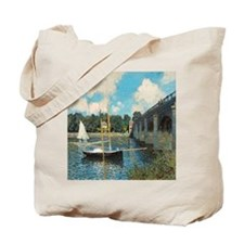 The Bridge at Argenteuil by Monet Tote Bag
