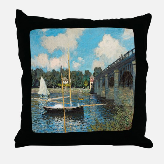 The Bridge at Argenteuil by Monet Throw Pillow
