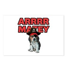 Pirate Beagle Puppy Postcards (Package of 8)