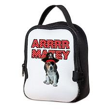 Pirate Beagle Puppy Neoprene Lunch Bag