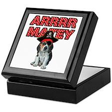 Pirate Beagle Puppy Keepsake Box