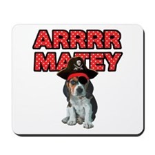 Pirate Beagle Puppy Mousepad