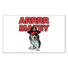 Pirate Beagle Puppy Decal
