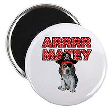 Pirate Beagle Puppy Magnet
