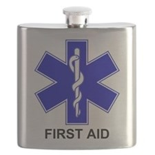 Blue Star of Life - First Aid.png Flask