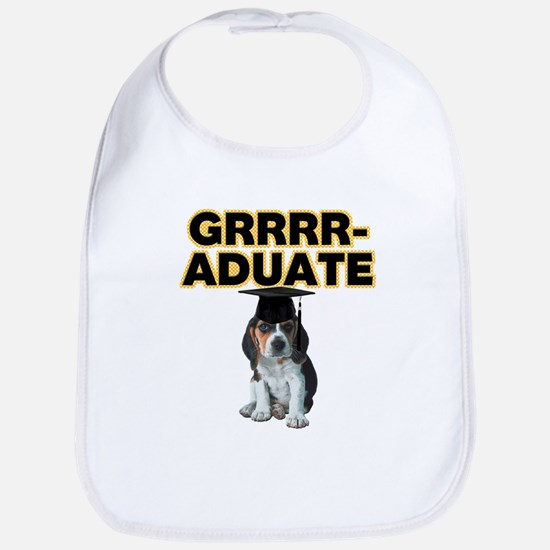 Graduation Beagle Puppy Bib