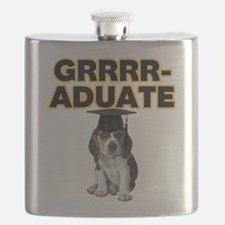 Graduation Beagle Puppy Flask