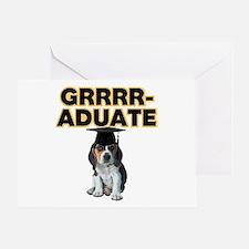 Graduation Beagle Puppy Greeting Card