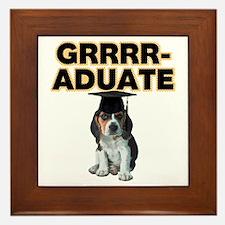 Graduation Beagle Puppy Framed Tile