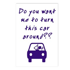 Turn Car Around Postcards (Package of 8)