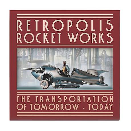 Retropolis Rocket Works Tile Coaster