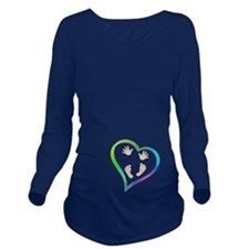 Baby Hands and Feet in Heart Long Sleeve Maternity