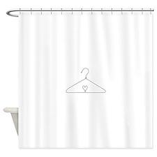 Heart Hanger Shower Curtain
