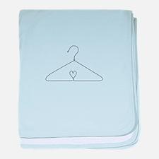 Heart Hanger baby blanket