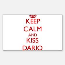 Keep Calm and Kiss Dario Decal