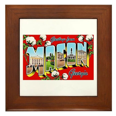 Macon Georgia Greetings Framed Tile
