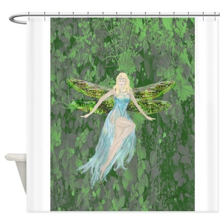 CafePress Luminescent Dragon /&Amp; Fairy Shower Curtain 1632040024