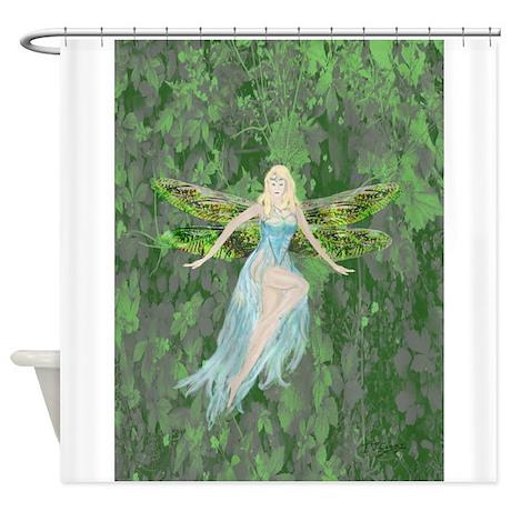 CafePress Luminescent Dragon /&Amp; Fairy Shower Curtain 1632040024