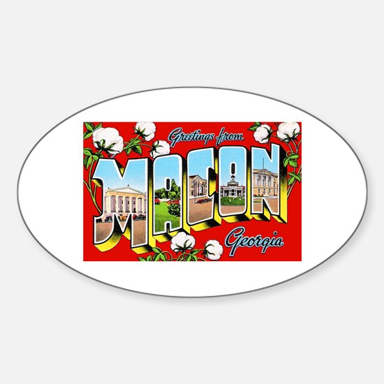 Macon Georgia Greetings Oval Decal