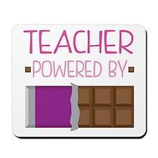 Teacher Powered By Chocolate Mousepad