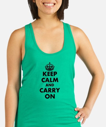 Keep calm and carry on | Personalized Racerback Ta