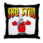 BBQ Stud Throw Pillow
