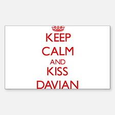 Keep Calm and Kiss Davian Decal