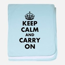 Keep calm and carry on | Personalized baby blanket