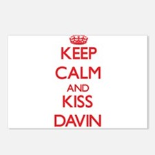 Keep Calm and Kiss Davin Postcards (Package of 8)