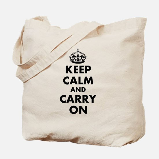 Keep calm and carry on | Personalized Tote Bag