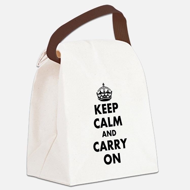 Keep calm and carry on   Personalized Canvas Lunch