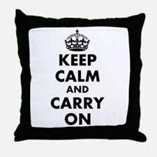 Keep calm and carry on | Personalized Throw Pillow