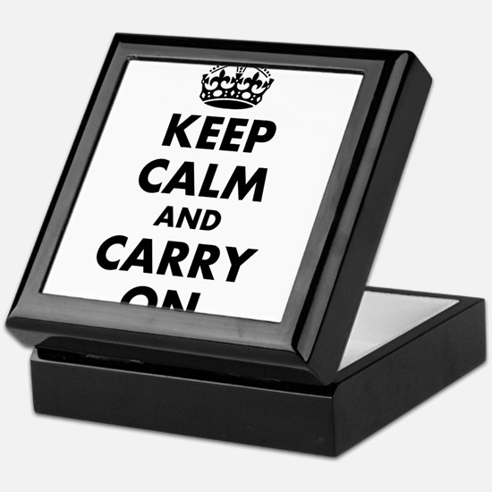 Keep calm and carry on | Personalized Keepsake Box