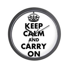 Keep calm and carry on   Personalized Wall Clock