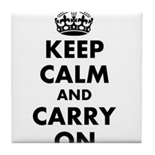 Keep calm and carry on | Personalized Tile Coaster