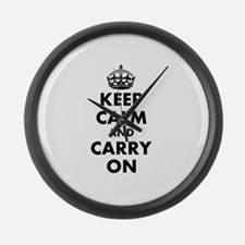 Keep calm and carry on | Personalized Large Wall C