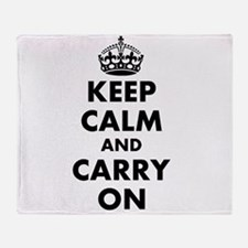 Keep calm and carry on | Personalized Throw Blanke