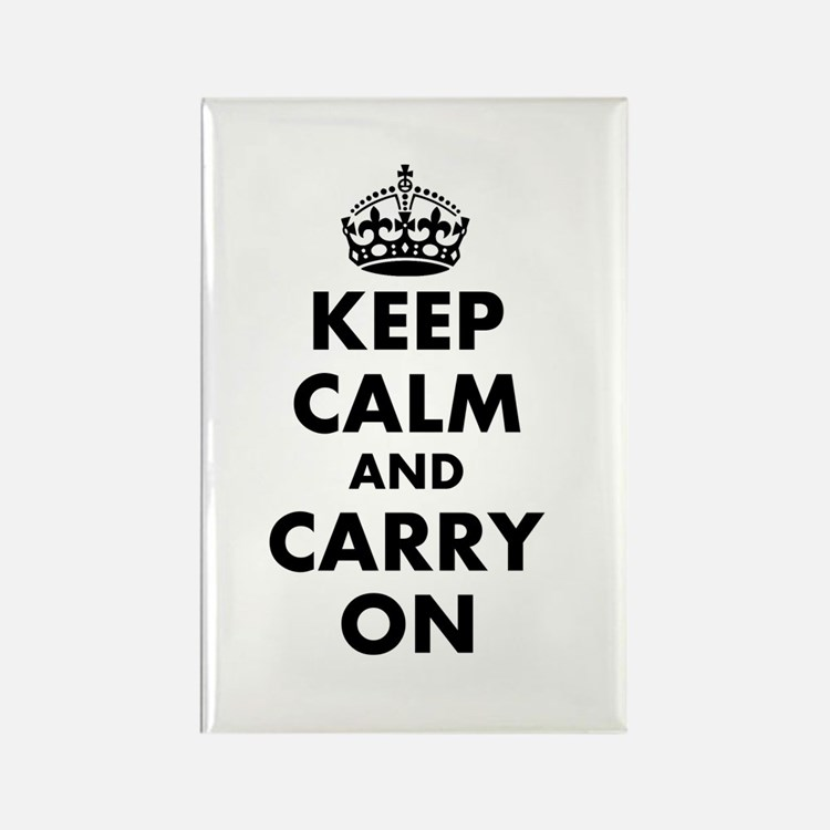 Keep Calm And Carry On | Custom Vertical Magnets