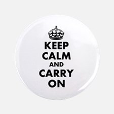 "Keep calm and carry on | Personalized 3.5"" Button"