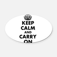Keep calm and carry on | Personalized Oval Car Mag