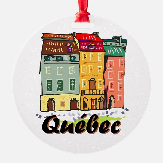 Quebec city Round Ornament