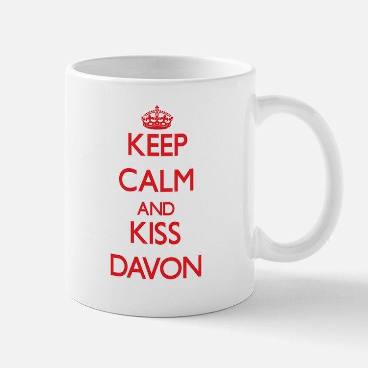 Keep Calm and Kiss Davon Mugs